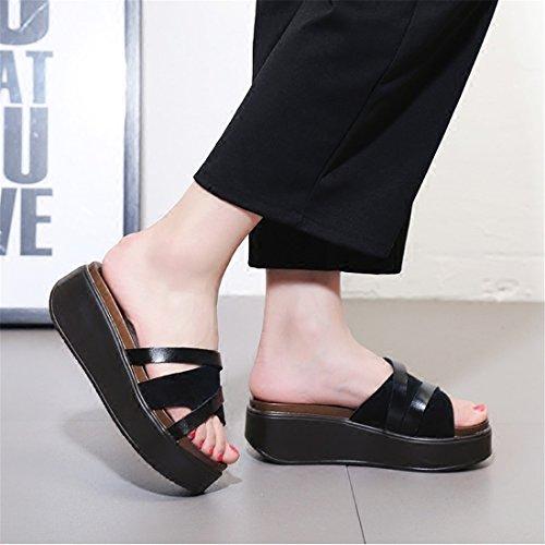 nbsp;Girl nbsp;Shoes nbsp;Thick nbsp;with nbsp;Slippers WXMDDN nbsp;Bottom nbsp;Slippers Summer nbsp;Fashion Black 7CxXqwcSH