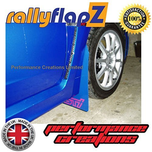 3mm Rallyflapz paraspruzzi per adattarsi Subaru Impreza Hatchback//berlina 2008su PVC stile blu STI logo rosa