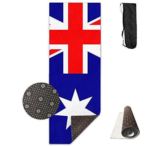 Non Slip Yoga Mat Australia Flags Premium Printed 24 X 71 Inches Great For Exercise Pilates Gymnastics Carrying Strap