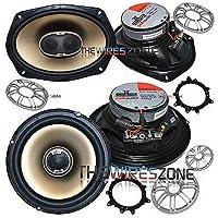Polk Audio 6 x 9 3-Way & 6.5 2-Way Car/Boat/Marine Coaxial Speaker (2 pairs)