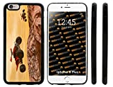 Rikki Knight Dirt Bikes Dessert Extreme Sport Design iPhone 6 Plus & 6s Plus Hybrid Case Cover (Black Rubber with Front Bumper Protection) for Apple iPhone 6 Plus & 6s Plus