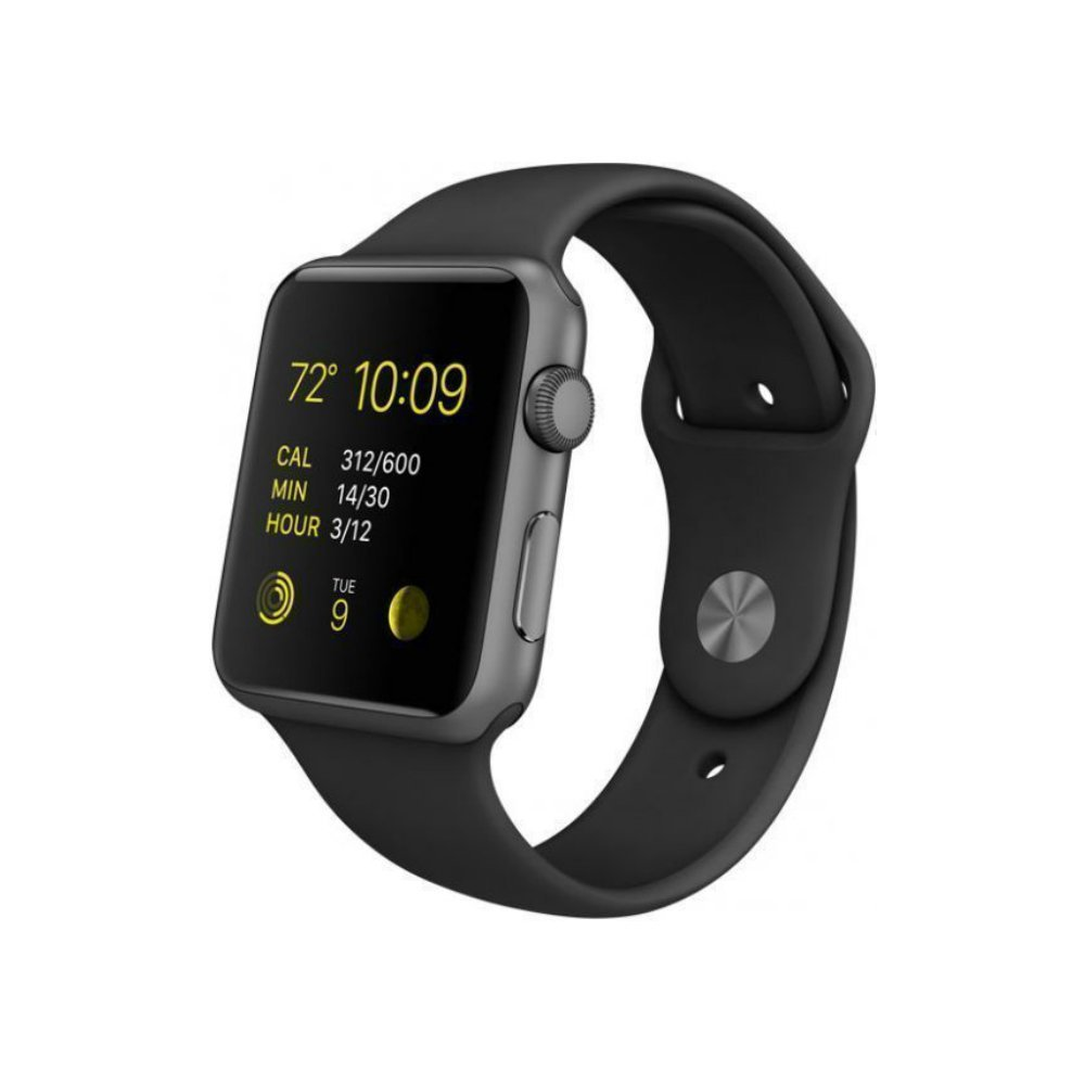 Apple Watch Series 1 Smartwatch 42mm, Space Gray Aluminum Case/ Black Sport Band (Newest Model) (Renewed) by Apple