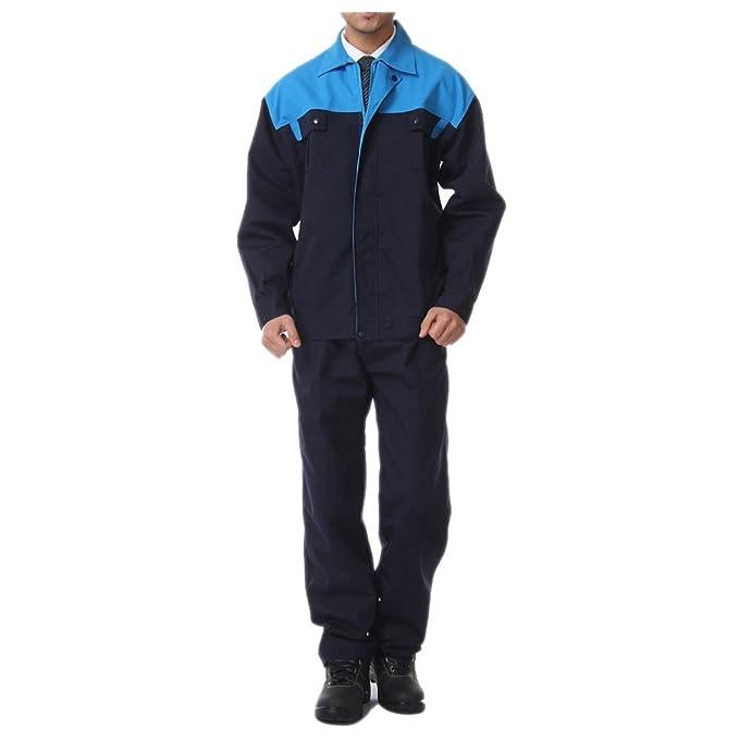 008 azul Hombro traje chaqueta de trabajo protección uniforme chaqueta soldador soldadura soldador ropa 190: Amazon.es: Ropa y accesorios