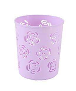 Monbedos 1 soporte para bolígrafo multifunción con diseño de rosas huecas y diseño de rosas, Morado, 8x8x9,5cm