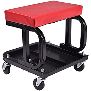 Goplus Rolling Creeper Seat Mechanic Stool Chair Repair Tools Tray Shop Auto Car Garage w/  sc 1 st  Amazon.com : chair stool combo - islam-shia.org