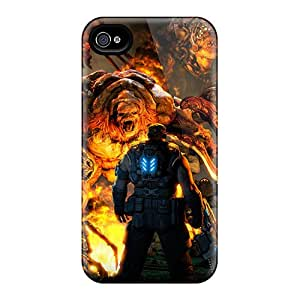 Special JMAon Skin Case Cover For Iphone 4/4s, Popular Gears Of War 3 Mission Phone Case