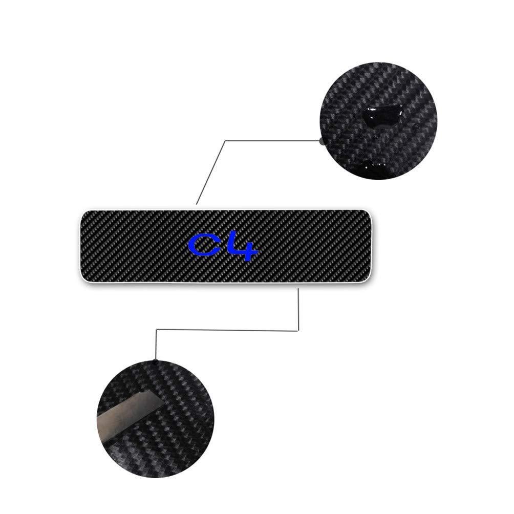 Maiqiken Juego de 4 Pegatinas de Fibra de Carbono para el umbral de C4 Rojo