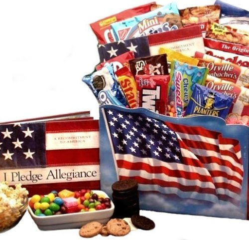 d4c58762 Amazon.com : I Pledge Allegence Patriotic Theme Snacks & Gourmet Food Gift  Basket - Fathers Day Gift Idea for Him : Gourmet Snacks And Hors Doeuvres  Gifts ...