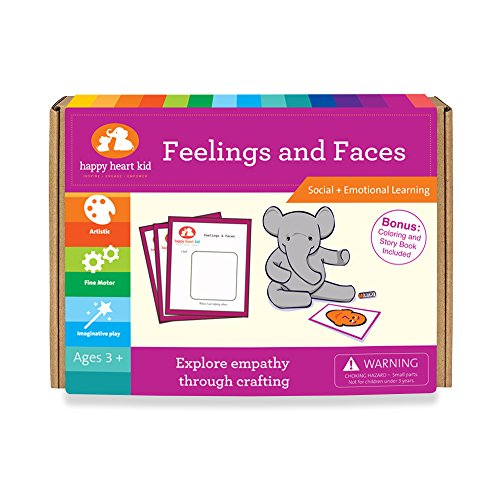 Feelings and Faces - Social Skill Craft to explore Emotions for Preschool Ages Kids 3-6 years