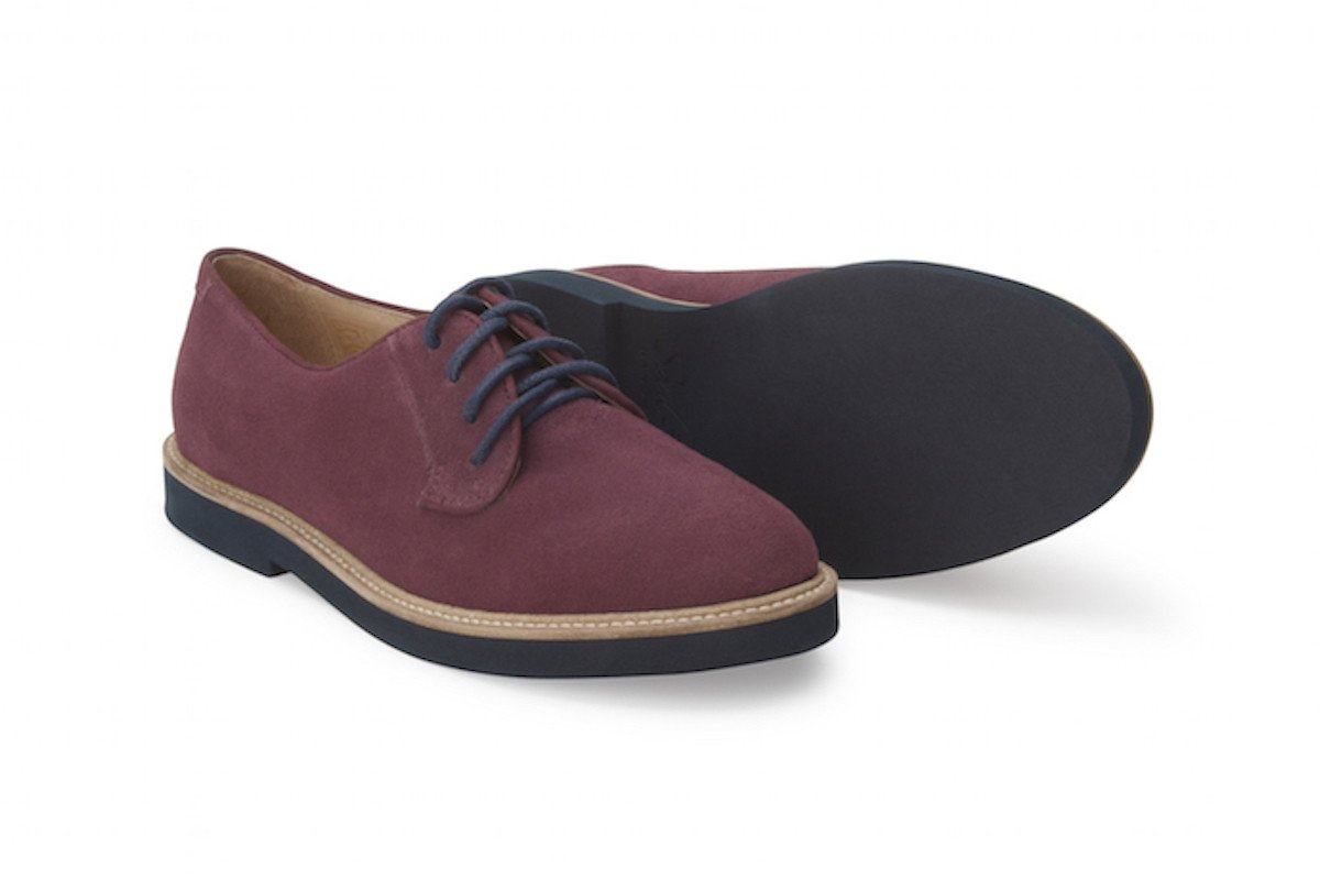 Soul 36 Gracie 69 Suede Lace up Oxfords (8, Burgundy) by Soul 36 (Image #1)