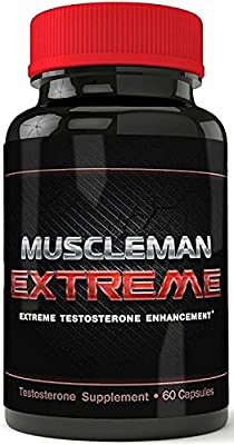 Muscleman Extreme - Extreme Testosterone Booster - Premium Nitric Oxide  Compound - Muscle Pills for Men - Muscle Pills to Get Ripped - Male