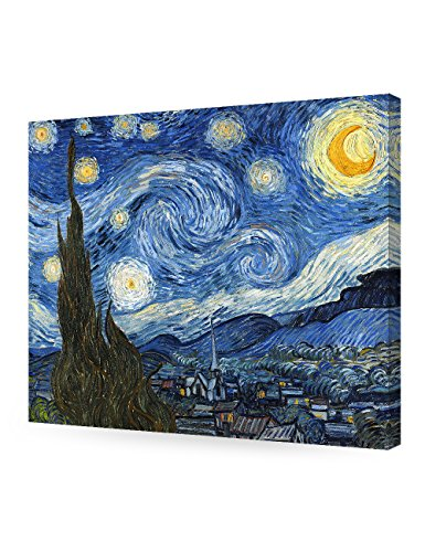 """DecorArts Starry Night By Vincent Van Gogh museum-quality pieces giclee printed stretched canvas gallery wrapped ready to hang 24""""x20"""""""