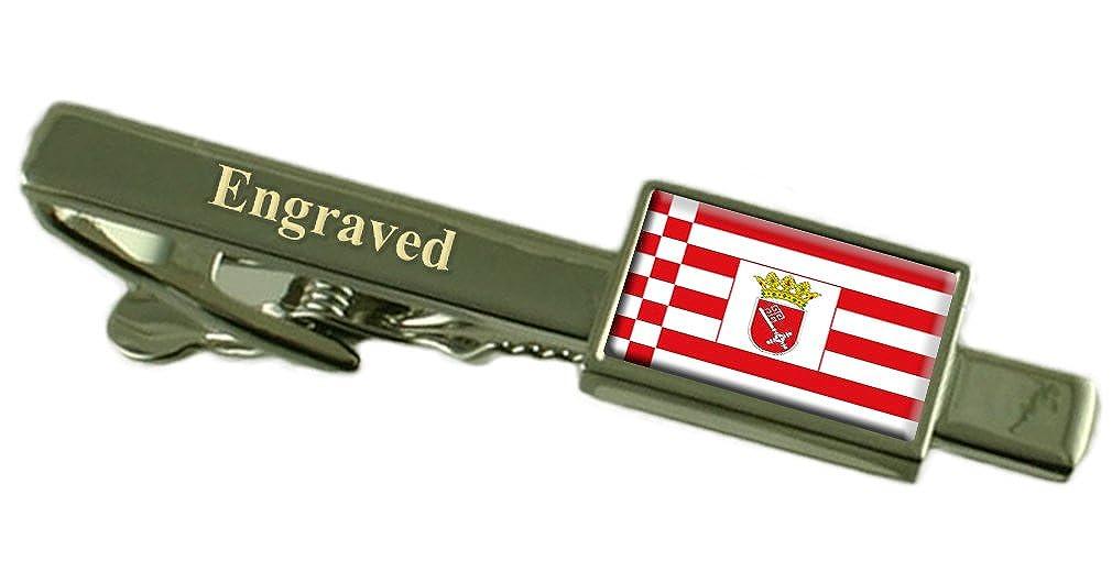 Bremen City Germany Sterling Silver Flag Cufflinks Engraved Box