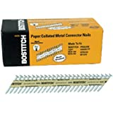 BOSTITCH PT-MC13115GAL-1M 1 1/2-Inch x .131 Paper Tape Collated Galvanized Metal Connector Nails, 1000-Qty.