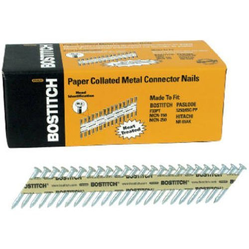 BOSTITCH PT-MC14815G-1M 1 1/2-Inch x .148 Paper Tape Collated Galvanized Metal Connector Nails, 1000-Qty.