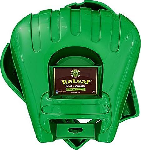 ReLeaf Leaf Scoops: Ergonomic, Large Hand Held Rakes for Fast Leaf & Lawn Grass Removal - Adjustable Rake