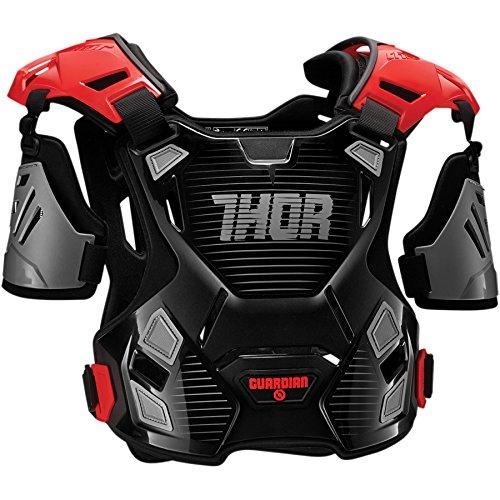 Thor Guardian Kinder Motocross Brustpanzer Cross Enduro Protektor MX SX Blau Rot Orange Schwarz Weiss (2XS/XS, Rot) 2701-0802-GM