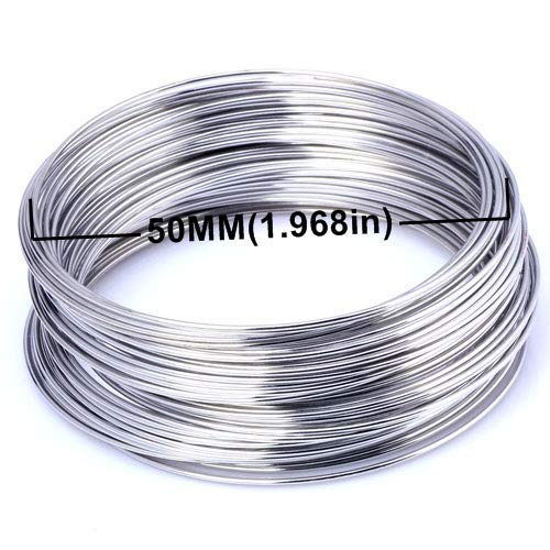 Bouquet Blank - Laliva Metal Wire Coil Steel Beading findings brooches Bouquet Blank Bracelet Bangles 20 Loops DIY Jewelry Making Accessories - (Color: 08mm 20loops 5CM)