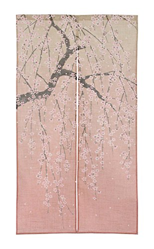 Noren Curtain Tapestry Gradient weeping cherry size: 85x150cm