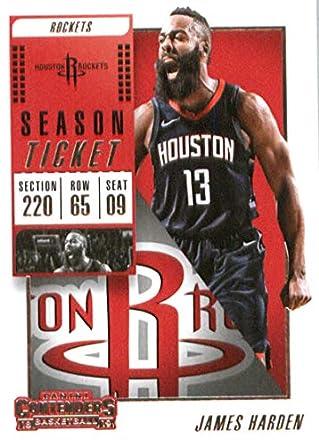 2018-19 NBA Contenders Season Ticket  38 James Harden Houston Rockets  Official Basketball Card cb07f3725