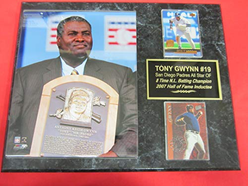 Padres Tony Gwynn 2 Card Collector Plaque #4 w/8x10 - Padres Clubhouse