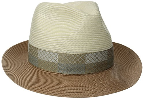 Stetson Men's Andover Florenine Milan Straw Hat, Ivory/Cognac, 7.375 (Stetson Rodeo)
