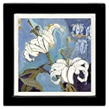 Thirstystone Ambiance Coaster Set, Lily White, Multicolored