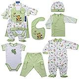 Hudson Baby 6-Piece Layette Set - Green, 0-3 Months
