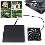 Timmart 10W Solar Power Fan Mini Ventilator for House Greenhouse RV Roof