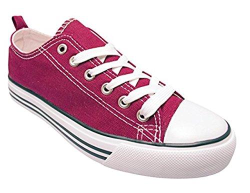 Aro402 Men Shoes Low Cut Sneakers Canvas (9, Burgandy)
