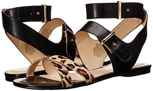 Sandalia natural Vestido multi Darcelle Nine La Black West Cuero Del De x01xzwFPqB