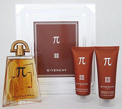 - Pi Givenchy Gift Set for Men (All Over Shampoo 2.5 oz+After Shave Balm 2.5 oz+Eau De Toilette Spray 3.3 oz)