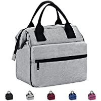 Srise Lunch Box Insulated Lunch Bag For Men &Women Meal Prep Lunch Tote Boxes For Kids & Adults(Grey)