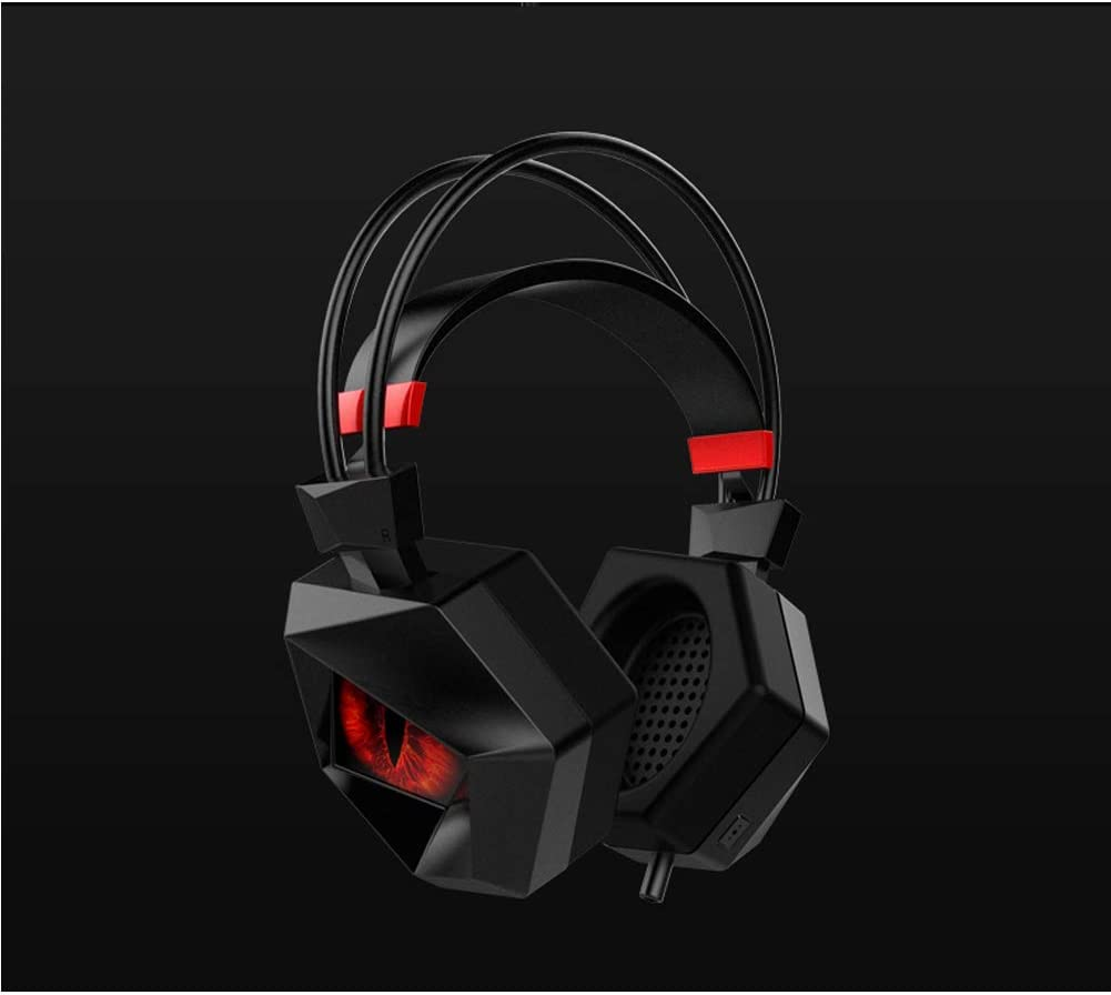7.1 Surround Stereo Sound 3.5mm Gaming Headset for PS4 Over-Ear with Mic LED Light Noise Cancelling Volume Control for Laptop Mac Best Gift Idea