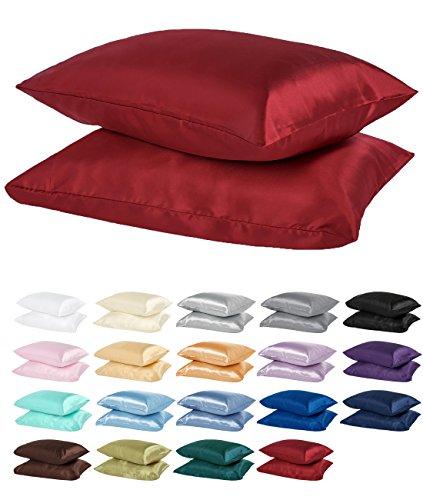 DreamHome Silky Soft Satin Pillowcase Pair (King, -