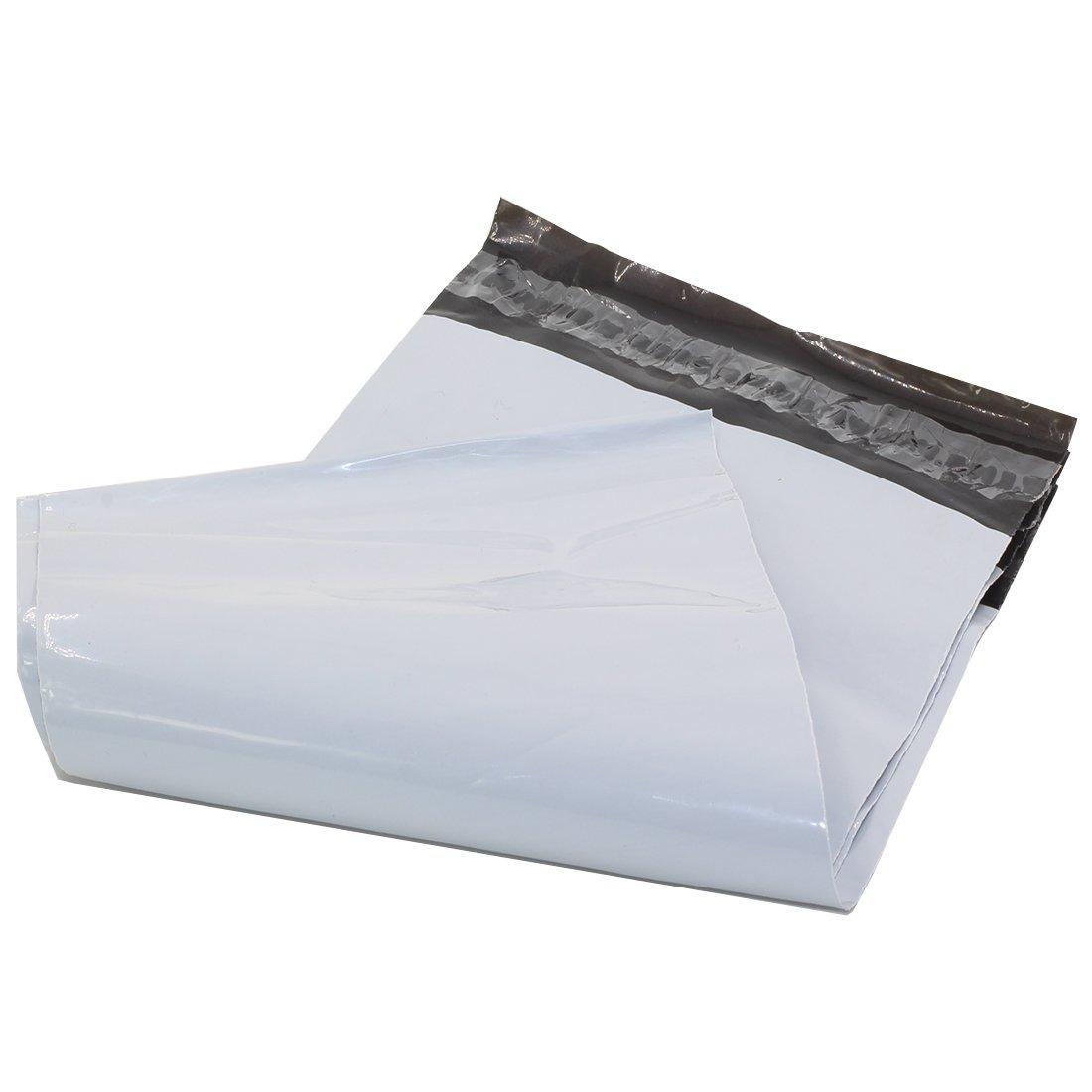 Gé né riques sacs de diffusion des sacs en plastique Poly enveloppes postales Self Seal Blanc (25cmx37cm) 100pcs HMGTUK