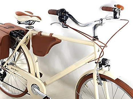 Promoción/Bicicleta Hombre Vintage con Bolsas y Hombro Incluido - Cambio Shimano 6 Velocidad – Color Crema Bici Vintage Retro Época - Bicicleta Regalo Hombre: Amazon.es: Deportes y aire libre