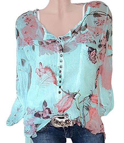 365 tiendas Mujer Schwarz1 Con Blusa Botones qYFqfvw