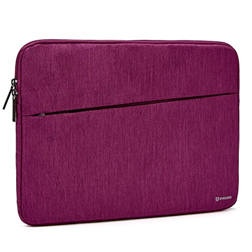 2017 Surface Book 2 13.5 Sleeve, Evecase Reinforced Shockproof Laptop Chromebook Bag Case with Accessory Pocket for Microsoft Surface Book 2 2017 13.5inch PixelSense Display - Wine Red
