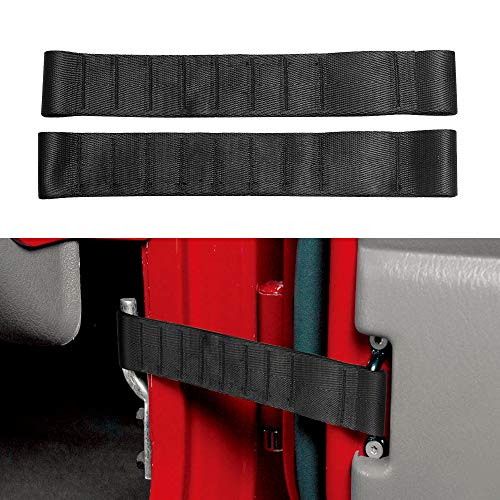 (VOFONO Updated Heavy Duty Strong Adjustable Door Limiting Check Strap for Jeep Wrangler TJ JK JL Load 1000 Lb)