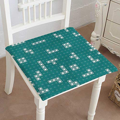 Desk Eames Unit (Mikihome Classic Decorative Chair pad Seat Retro Games Mosaic Assembled Unit Cushion with Memory Filling 28