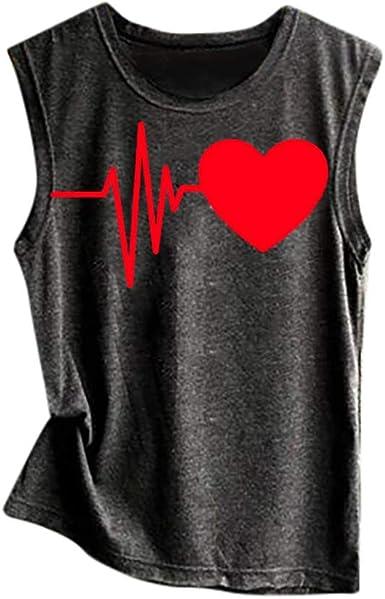 LUNULE VENMO Camisetas Mujer Verano Camisetas sin Mangas Blusa Camisa de Verano Cuello Redondo Camiseta Basica Camiseta Tirantes Mujer Suelto Tops Casual Fiesta T-Shirt: Amazon.es: Ropa y accesorios