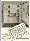 "SUPER 1928 AD FOR ""DUTCH KITCHENET"" CABINETS BY NAPANEE Original Paper Ephemera Authentic Vintage Print Magazine Ad / Article"