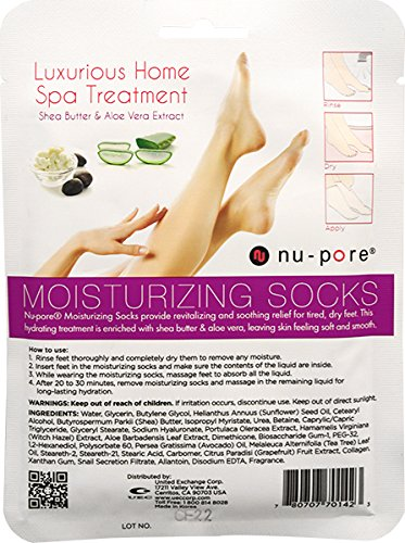 Nu-Pore Moisturizing Socks, Case of 24
