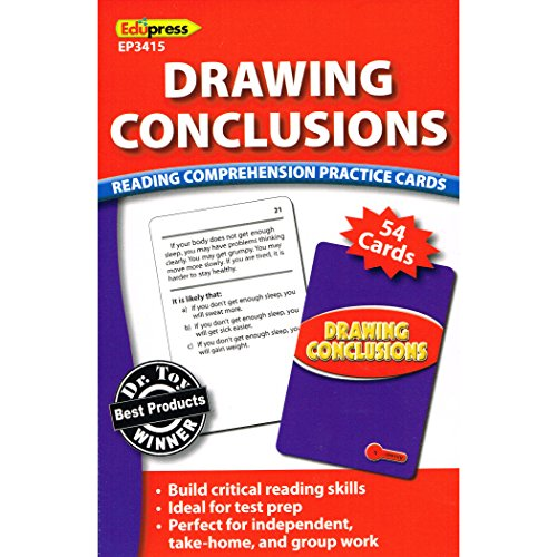 Edupress Reading Comprehension Practice Cards, Drawing Conclusions, Red Level (EP63415)