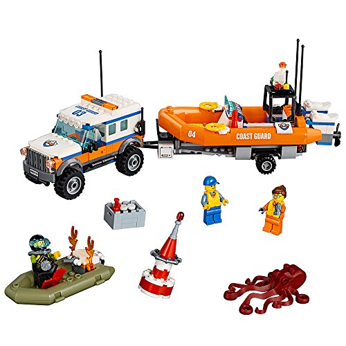 LEGO City Coast Guard 4 x 4 Response Unit 60165 Building Kit (347 Piece) (Lego City 7498 Best Price)