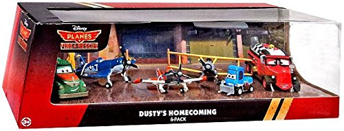 Disney PLANES: Fire & Rescue Exclusive 1:55 Deluxe Die Cast 6-Pack Dustys Homecoming [Dottie, Chug, Mayday, Supercharged Dusty, Skipper & Leadbottom] by - Dottie Diecast Planes