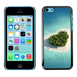 Paccase / SLIM PC / Aliminium Casa Carcasa Funda Case Cover - Nature Beautiful Forrest Green 27 - Apple Iphone 5C