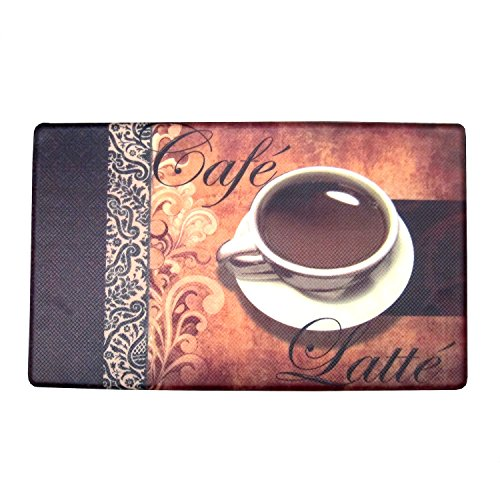 COMFORTABLE ANTI-FATIGUE MAT, Beautifully Designed, Provides Superior Comfort And Support, Made with 100% PVC Foam For Quality Durability And Softness, Super Easy To Clean, 18x30 Inches (Cafe Latte)