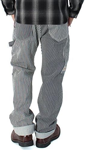 ヒッコリー マルチストライプ ワークパンツ メンズ ワーク パンツ